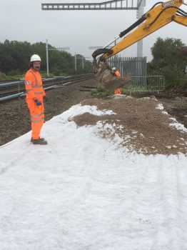 sub base being laid for concrete base